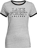 Lake Forest College Women's Athletic Fit Ringer Short Sleeve T-Shirt