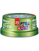 Memorex Blank DVD-RW 4.7GB 25 Pack Spindle - ONLINE ONLY