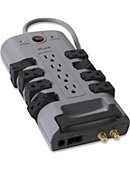 Belkin 12 OUTLET HOME/OFFICE SURGE PROTECTOR 4320J 8FT - ONLINE ONLY