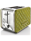 BELLA DIAMONDS 2 Slice Toaster Lime - ONLINE ONLY