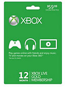 Xbox Live 12 Month Gold Card