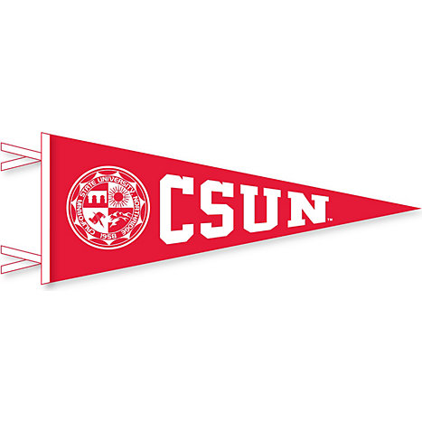 cal state northridge seal 9 x 24 pennant california