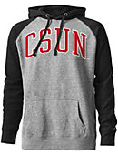 California State University at Northridge Tri-Blend Color Block Hooded Sweatshirt