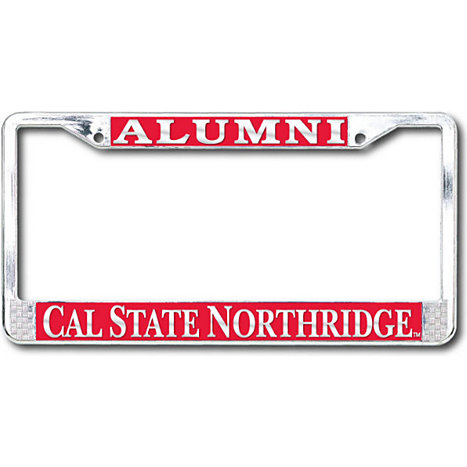 cal state northridge alumni license plate frame