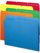 Smead File Folder,1/3 AST 1-Ply Tab,Letter,100/box,BE/GN/OE/RD/YW - ONLINE ONLY