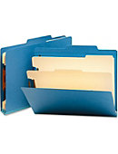Smead Classification File Folders,2/5 Cut,Letter,2 Divider,10/BX,Blue - ONLINE ONLY