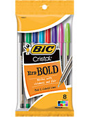 BIC Cristal Xtra Bold Ball Pen 8 pack 1.6MM Assorted
