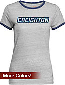 Creighton University Women's Athletic Fit Ringer Short Sleeve T-Shirt