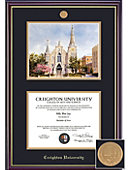 Creighton University 8'' x 10'' Windsor Diploma Frame with Lithograph