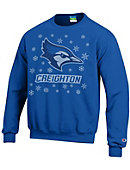 Creighton University Bluejays Ugly Sweater Crewneck Sweatshirt