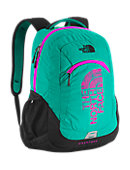 The North Face Haystack Backpack - Kokomo Green / Luminous Pink