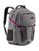 The North Face Women's Recon Backpack - Zinc Grey Heather / Dramatic Plum