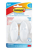 Command(TM) Medium Bath Hook, 2 Hooks, 2 Strips