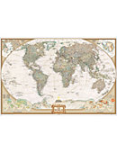 National Geographic 24 in. x 36 in. World Map