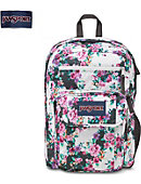 Jansport Digital Student Backpack Grey Floral