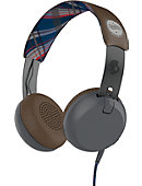 HEADPHONE SKUL GRIND TAP PLAID