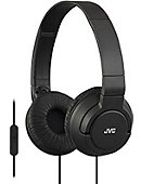 HEADPHONE JVC BASS MIC BLACK