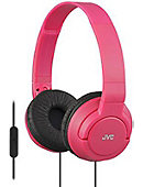 JVC Headphones Bass W/ Mic - Pink