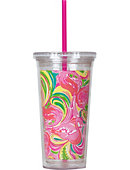 Lilly Pulitzer 16 OZ TUMBLER W STRAW ALL NIGHTER