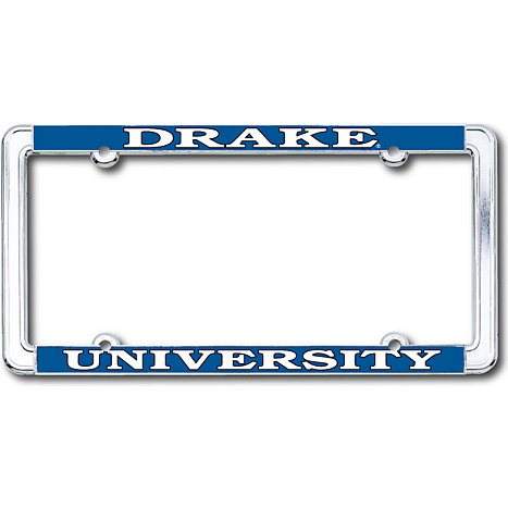 product drake university thin dome license plate frame