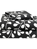 Twin XL 3-Piece Sheet Set-Black & White Vine - ONLINE ONLY
