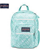 Jansport Big Student Backpack Aqua Dash/Plaid