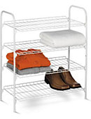 Four Tier Closet Storage Shelf - ONLINE ONLY