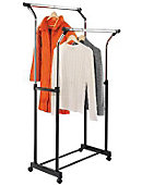 Double Flared Garment Rack Black - ONLINE ONLY