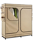 Double Door Storage Closet w Shoe Organizer - ONLINE ONLY