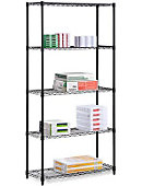 72 Five Tier Shelf Black - ONLINE ONLY