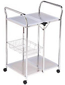 Folding Utility Kitchen Cart - ONLINE ONLY