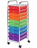 10 Drawer Rolling Storage Cart - ONLINE ONLY