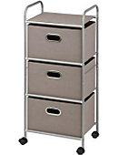 3 Drawer Rolling Cart Grey - ONLINE ONLY