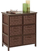 6 Drawer Storage Chest Brown - ONLINE ONLY