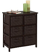 6 Drawer Storage Chest Espresso - ONLINE ONLY