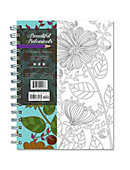Beautiful Botanicals 140 Page Coloring Notebook