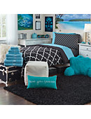 Large Scatter Shag Rug Black - ONLINE ONLY