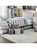 Large Scatter Shag Rug White - ONLINE ONLY