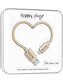Happy Plugs Lightning USB to USB Charge & Sync Cable -Champagne - 2m