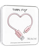 Happy Plugs Lightning USB to USB Charge & Sync Cable -Pink Gold - 2m