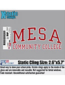 Mesa Community College Cling Decal