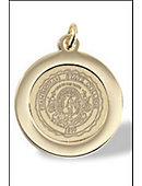 Pendant Charm With Brass Medallion