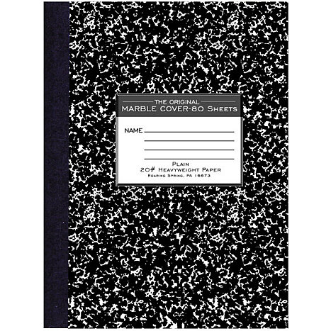 Product: Composition Book 80 Sheet 10x7-7/8 Unruled/ Hard Cover