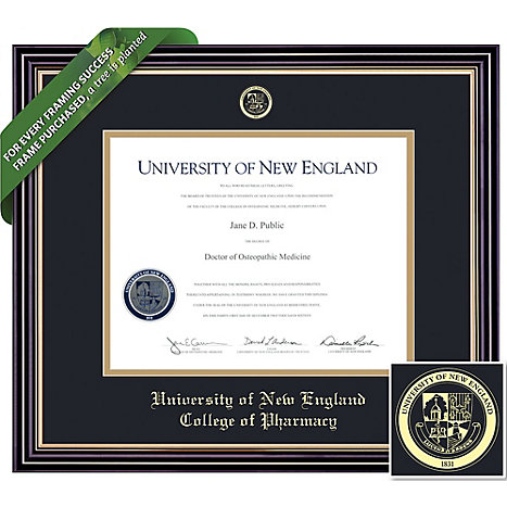framing success university of new england college of pharmacy 14x17 diploma frame