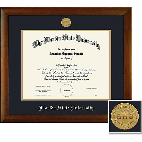 Florida State University 11 X 14 Bamboo Diploma Frame