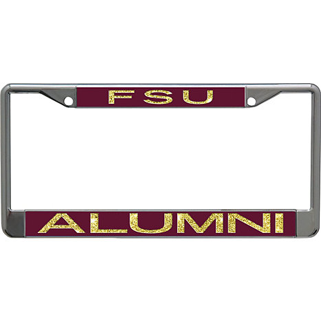 Florida State University Alumni Glitter License Plate