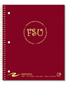 Florida State University 120 Sheet Three-Subject Notebook