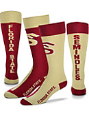 Florida State University Women's Thin Mismatched Boot Socks
