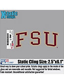 Florida State University Cling Decal
