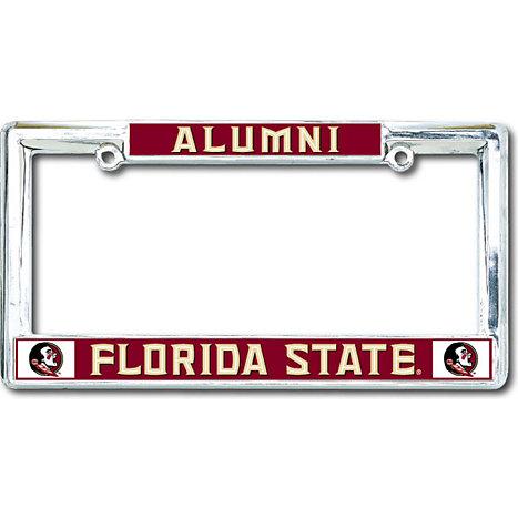NCAA Florida State Seminoles Black License Plate Frame FSU Alumni Stockdale